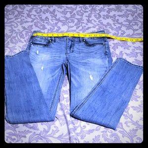 WHBM Leather Trim Skinny Jean Size 0S